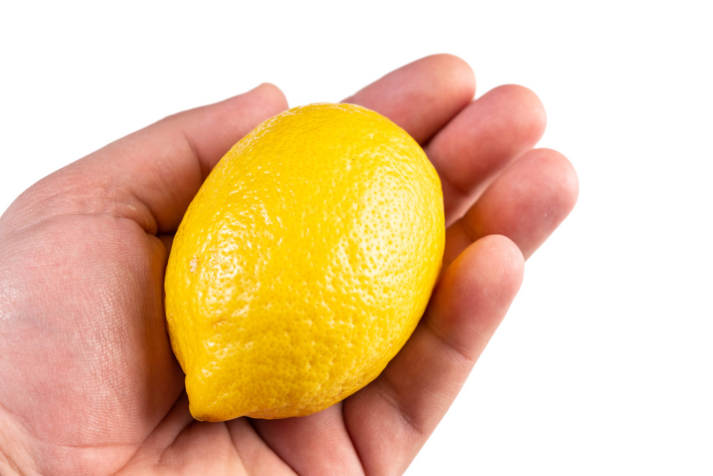 Yellow Lemon in the hand